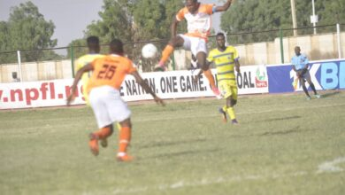 Photo of MFON UDOH'S HEADER SINKS YOBE STARS IN DAMATURU
