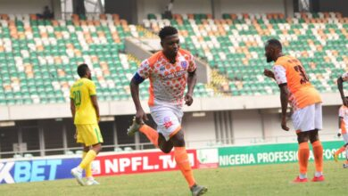 Photo of NDIFREKE EFFIONG SHINES AS AKWA UTD THUMP KATSINA UTD IN UYO