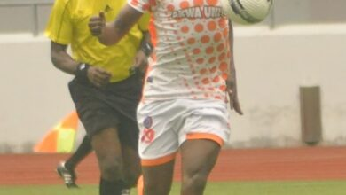 Photo of SETH MAYI IN CLOUD NINE AFTER OPENING HIS AKWA UTD'S GOAL ACCOUNT